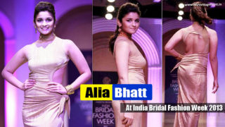 Young and Hot Alia Bhatt Ramp Walk At India Bridal Fashion Week 2013