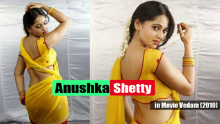 Anushka Shetty in a sexy photoshoot in Yellow Saree in Movie Vedam (2010)