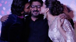 Deepika and Ranveer at Ram Leela first look launch!