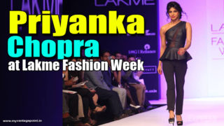 Priyanka Chopra Walks the Ramp at Lakme Fashion Week Winter Collection