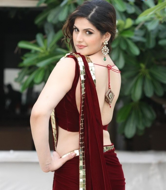 Zarine Khan hot sexy back