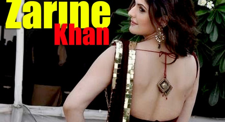 Zarine Khan Spicy Pics In a Red Saree at GJIWL Launch Event