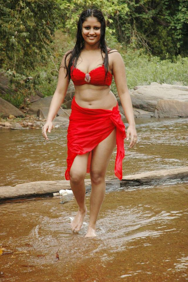 Amrutha Valli sexy walk in red dress, Amrutha Valli red hot photos, Amrutha Valli wet pics