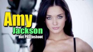 Amy Jackson Superhot photoshoot in Black Lingerie