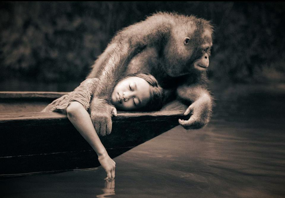 Ashes & Snow photos by Gregory Colbert, boy and leopard photos, girl with chimpanji