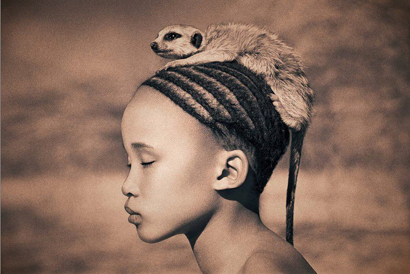 Ashes & Snow photos by Gregory Colbert, boy and leopard photos