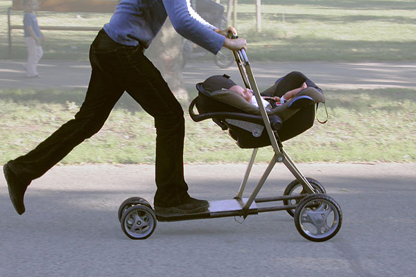 Baby Stroller and Scooter
