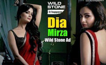 Dia Mirza Wild Stone ad in red saree