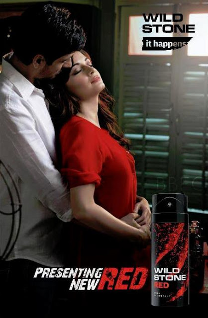 dia mirza in hot red dress in wild stone ad