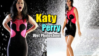 Singer Katy Perry Hot Wet Photoshoot Stills