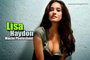 Lisa Haydon Bikini Photoshoot For Maxim India,