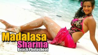 Madalasa Sharma Hot Photos at Beach