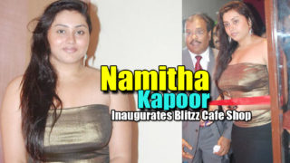 South Hottie Namitha Inaugurates Blitzz Cafe Shop Pictures