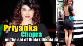 Priyanka Chopra Hot in Black on the set of Jhalak Dikhla Ja