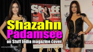 Shazahn Padamsee on Stuff India magazine cover of their 4th anniversary issue