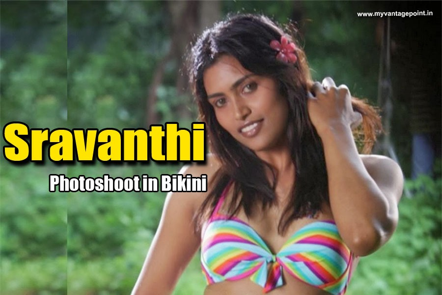 Sravanthi photoshoot in bikini hot navel