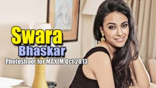 Swara Bhaskar Hot Photoshoot for Maxim India Magazine Oct 2013