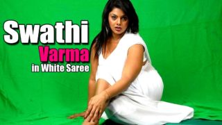 Swathi Varma Superhot Photoshoot in White Saree