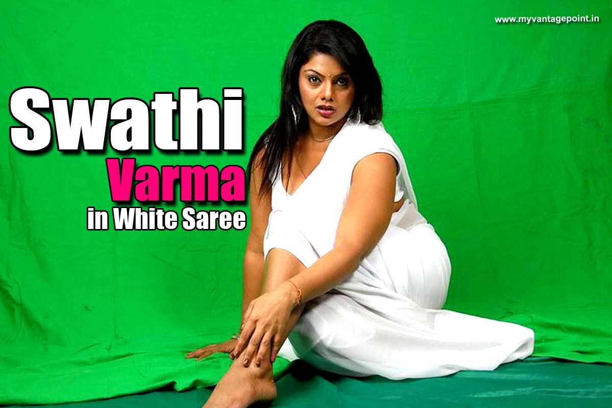 Swathi Varma in White Saree