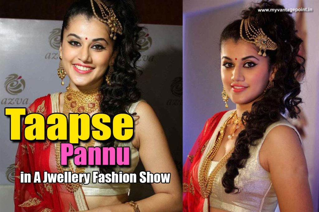 Taapsee Pannu Stunning Stills in Jewellery From A Fashion Show