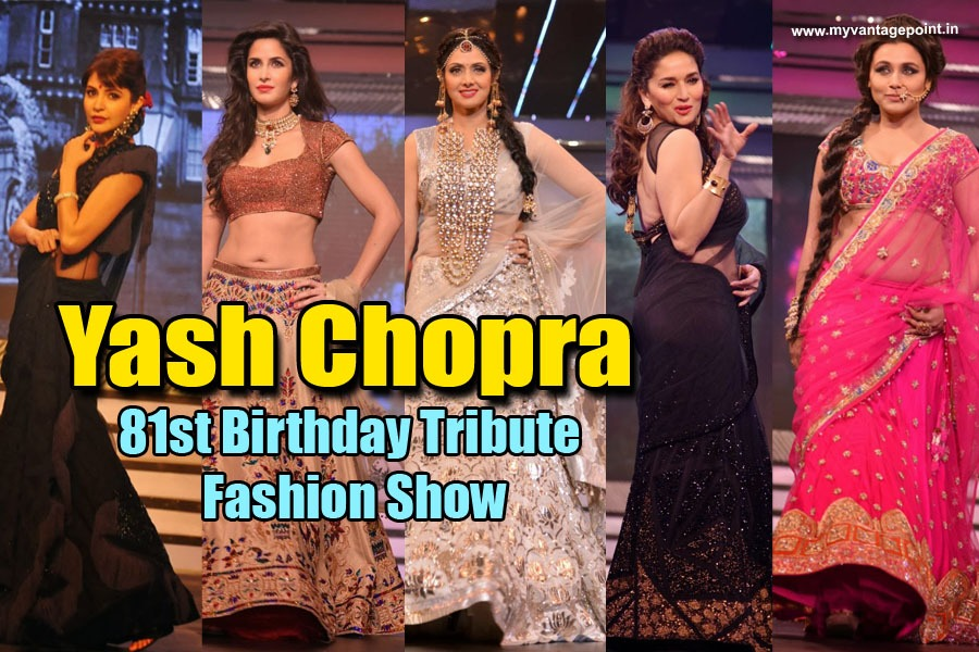 bollywood fashion show in memory of Yash Chopra
