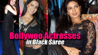 Bollywood Beauties in Black Saree..Seems Like BLACK MAGIC !!! ;)