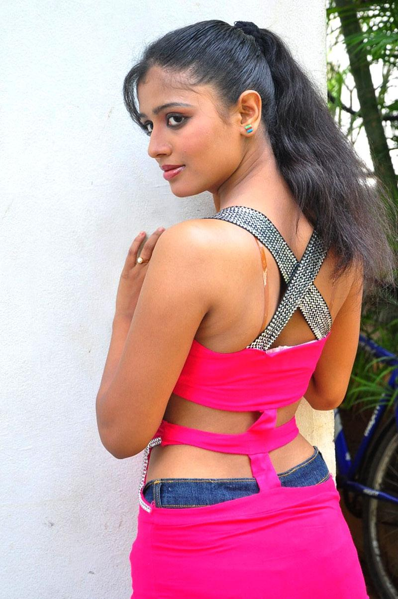 Anusri in jeans, Anusri in tight clotes, Anusri in tight dress, Anusri hot sexy back, Anusri Hot Stills in Pink Dress - VP (1)