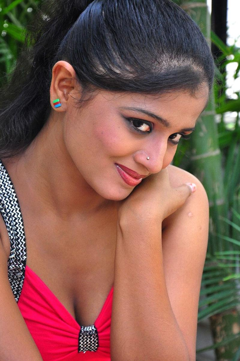 Anusri desi girl, south actress Anusri, Anusri Hot Stills in Pink Dress - VP (11)