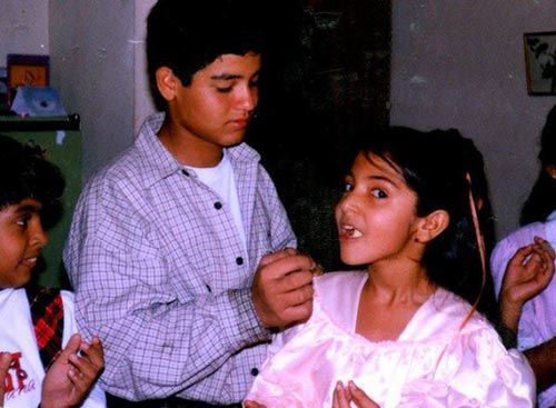 Anushka Sharma with her brother, Anushka Sharma childhood pictures