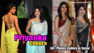 Bollywood Desi Girl Priyanka Chopra in Saree : 50+ Hot Photos