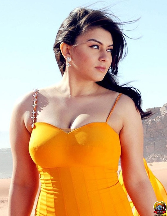 Hansika Motwani hot photos in yellow dress, Hansika Motwani in yellow, Hansika Motwani hot sexy pics