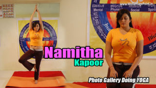 South Indian Hottie Namitha Doing Yoga Hot Photos