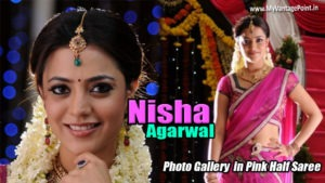 South Indian Actress Nisha Agarwal in Pink Saree