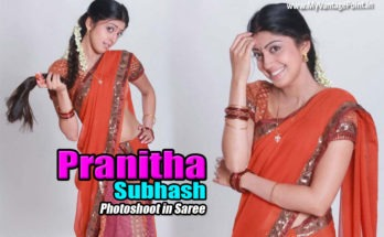 Pranitha Subhash hot photos in saree, Pranitha Subhash sexy photos in saree