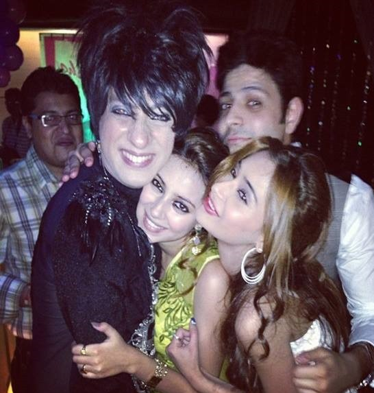 Pratyusha Banerjee with with rohit bal at her birthday party