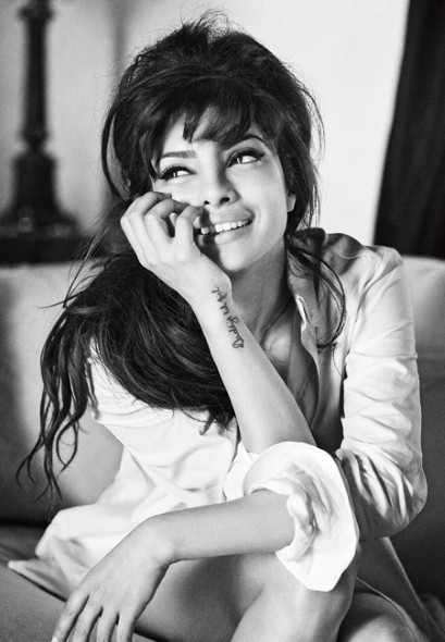 Priyanka Chopra hand tattoo, Priyanka Chopra guess magazine photoshoot, Priyanka Chopra Guess Girl - VP (17)