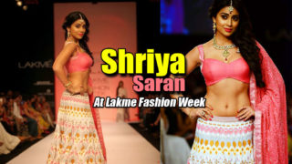 Shriya Saran Sizzling Ramp Walk In Sexy Lehenga Choli At Lakme Fashion Week 2013