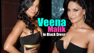 Veena Malik Hot Pics In Black Dress