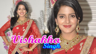 Sweet & Sexy Vishakha Singh in Red Saree