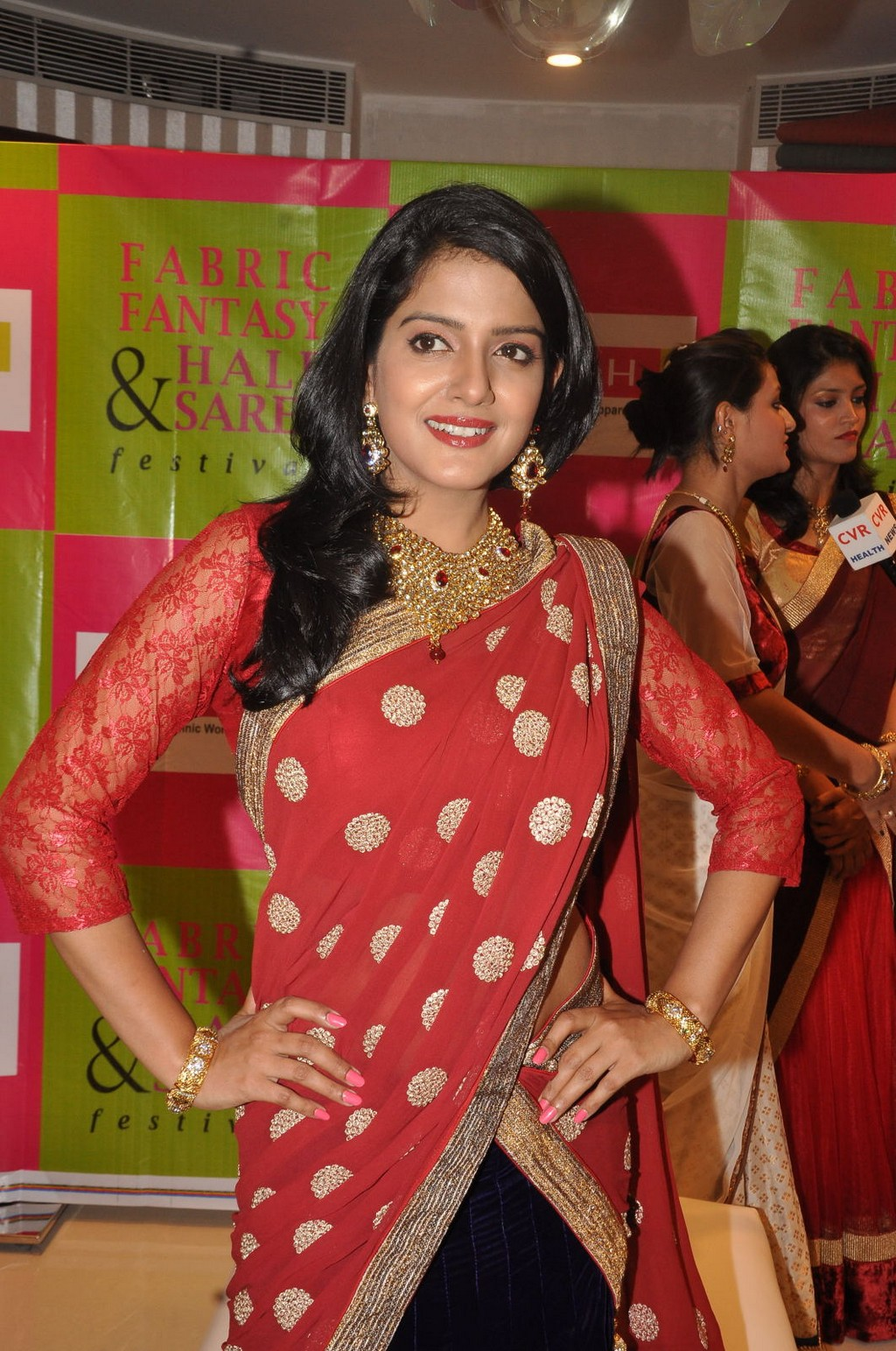 Visakha Singh in Red Saree - VP (3)