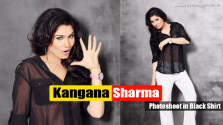 Kangana Sharma in Black Transparent Shirt Photoshoot Pics