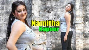 Namita in Hot Show in Black Pant and White Top