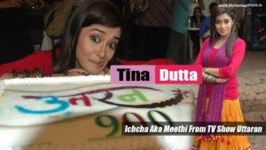 Read more about the article Tina Dutta : Ichcha Aka Meethi TV Actress Celebrating Uttaran Completing 900 Episodes Success Party !!