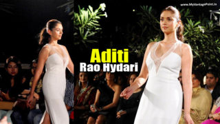 Aditi Rao Hydari Stuns In White Dress in A Fashion Show