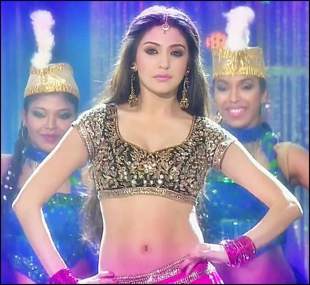 Anushka Sharma, Anushka Sharma navel photos, Anushka Sharma sexy navel, Anushka Sharma dance