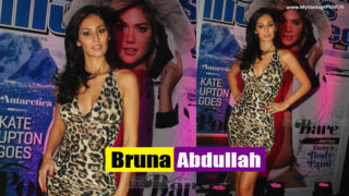 Bruna Abdullah Showing Hot Legs in Sexy Leopard Dress