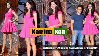 Katrina Kaif Allures Onlookers in Flirty Pink Dress ;)
