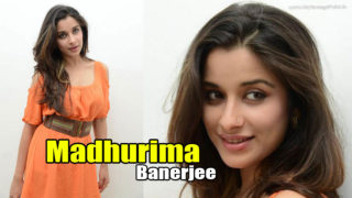 Madhurima Nyra Banerjee Cute Pics in Orange Dress