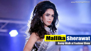 Mallika Sherawat Sexy Ramp Walk In A Fashion Show