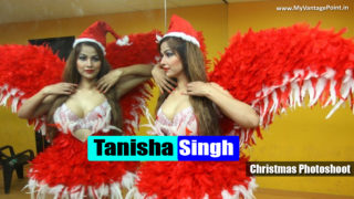 Tanisha Singh Stunning Hot & Spicy Christmas Theme Photoshoot